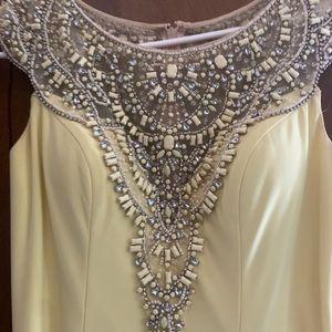 Tony Bowls Embellished Slit Pageant/Prom Dress